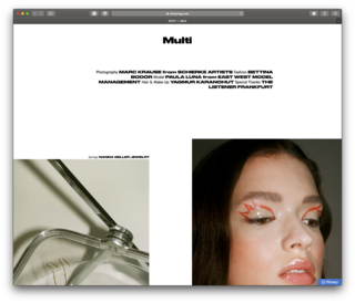 Sicky Magazine / Multi / Online Editorial